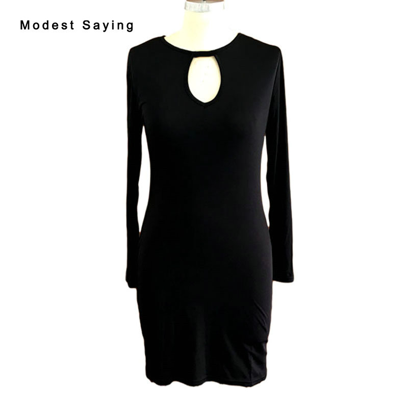 Sexy Black Straight Long Sleeve Bodycon Short   Cocktail     Dresses   2017 Slim Mini Stretch Party Prom Gowns robe   cocktail   BE80