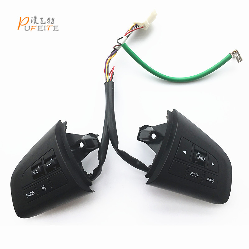 multifunction steering wheel control button for mazda 3 2012 2013 steering wheel button car steering wheel alu alloy turnplate for wheel aligner steering turntable