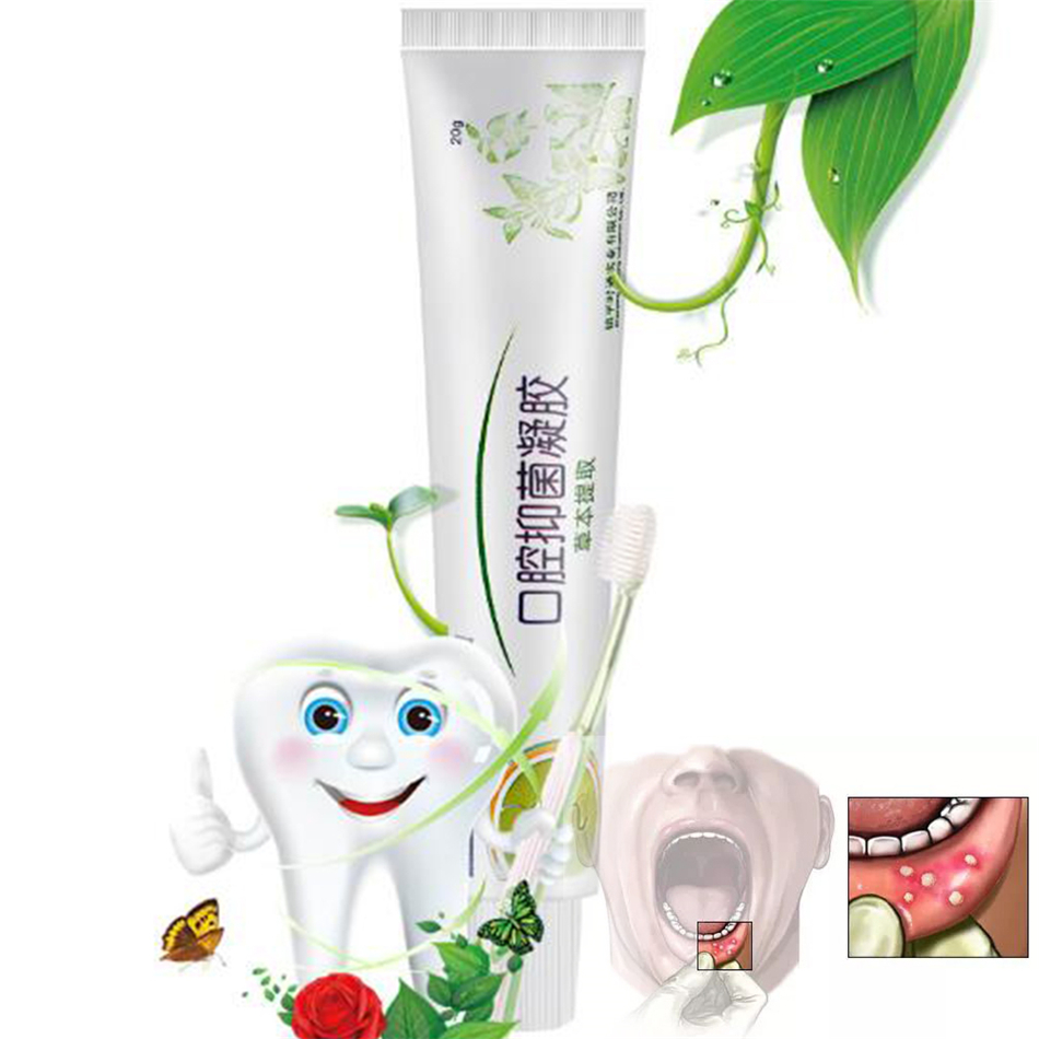 ᐂMouth Ulcer Relief Gel Natural Herbal Oral Antibacterial Cream