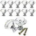 10 pcs S9 Diamante Forma de Vidro de Cristal Gaveta Do Armário Knob Pull Handle Knob Maçanetas de Gaveta Puxadores Das Portas Do Armário Da Cozinha