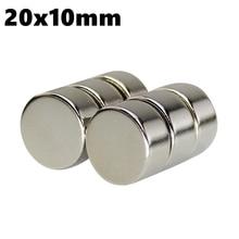 Мощные магнитные цилиндр магнит диска 20 мм х 10 мм N35 редкоземельных NdFeb 10 шт 5 шт 20×10 Круглый неодимовые магниты листов