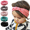 Trendy Colorful Headbands Elastic Cloth Cute Baby Girls Hairbands Dot Turban Knot Headband Baby Hair Accessories Free Shipping