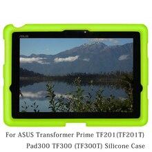 10.1in Pad300 MingShore Para ASUS TF300 TF300T Tablet Case de Silicona Caso de la Cubierta Para ASUS Transformer Prime TF201 TF201T Caja Plana