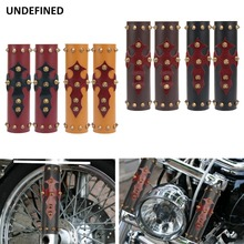 2 Pcs Motorcycle Shock Absorber Leather Cover Front Fork Protector Guard w/ Spikes For Harley Honda Suzuki Yamaha YZF Universal дмитрий волошин run and remember