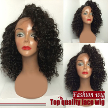wholesale synthetic hair lace front wigs Heat Resistant hair wig Afro Kinky Curly synthetic Half wig for black women Hot Selling