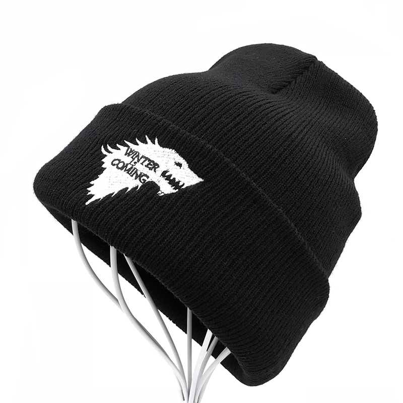 Paint Art Tiger Hat for Men and Women Winter Warm Hats Knit Slouchy Thick Skull Cap Black