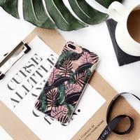 Summer Banana Leaves Clear Phone Case For IPhone 7 7plus 6 6s 6plus 6splus TPU Soft
