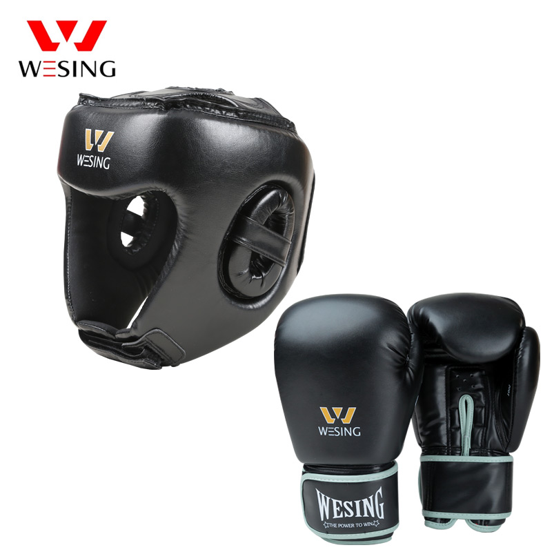 Set of 2 Adults Boxing Helmet Head Guard Martial Arts Gear MMA Protector