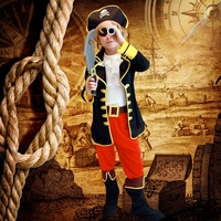 Children Cosplay Halloween Costume Role Children Party Clothes Retail Pirate Costume Boy Kids Gifts New Year