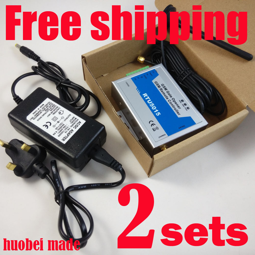 Free Fast shipping with express delivery GSM gate opener (RTU5015 Including the DC12V/2A power adapter )