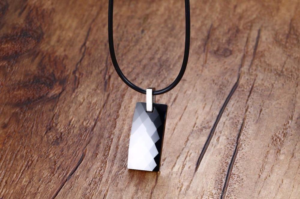 Men Tungsten carbide magnetic necklace 126