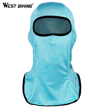 WEST BIKING Autumn Cycling Face Mask Ice Silk Cycling Caps Windproof Bicycle Mask for Skating Fishing Headwear Bike Face Masks