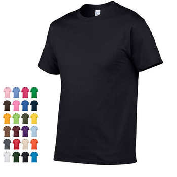 2019 Summer New High quality men T shirt casual short sleeve o-neck 100% cotton t-shirt men brand white black Red gray tee shirt
