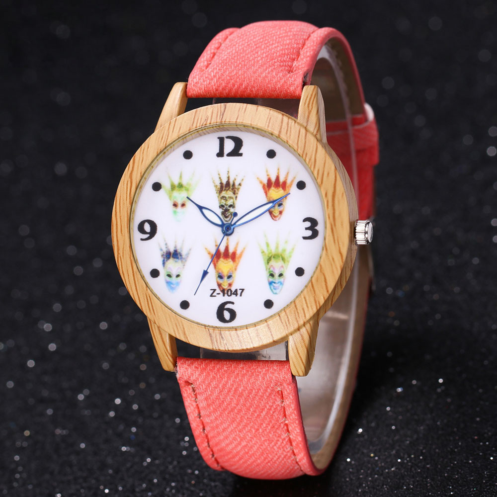 Wooden Watch Gift Famous High-Quality Luxury Brands Halloween Quartz Child -W