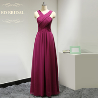 Custom Made Chiffon Long Fuchsia Bridesmaid Dresses Special Occasion Women Party Dress Maid of Honor