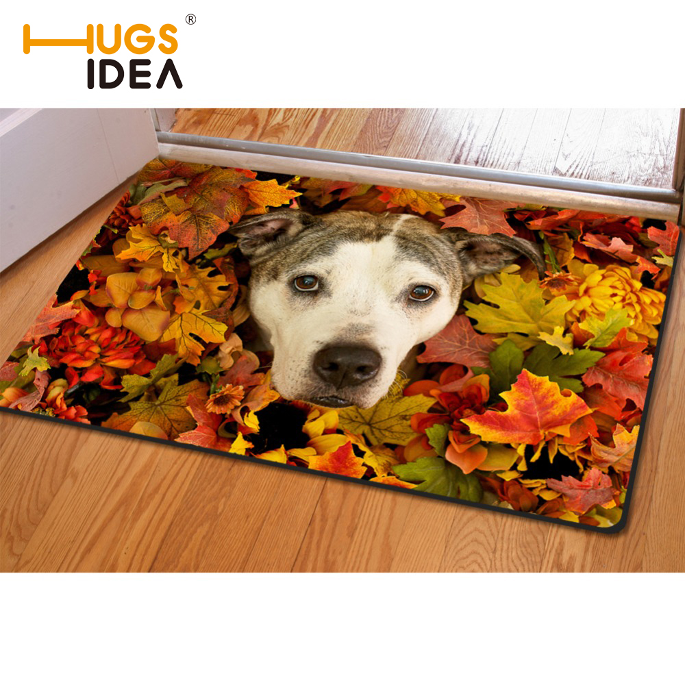 HUGSIDEA Funny 3D Animals Floral Carpet Designer Looking Up Puppies Rug For Living Room Carpet Kids Bedroom Thin Carpets & Rugs