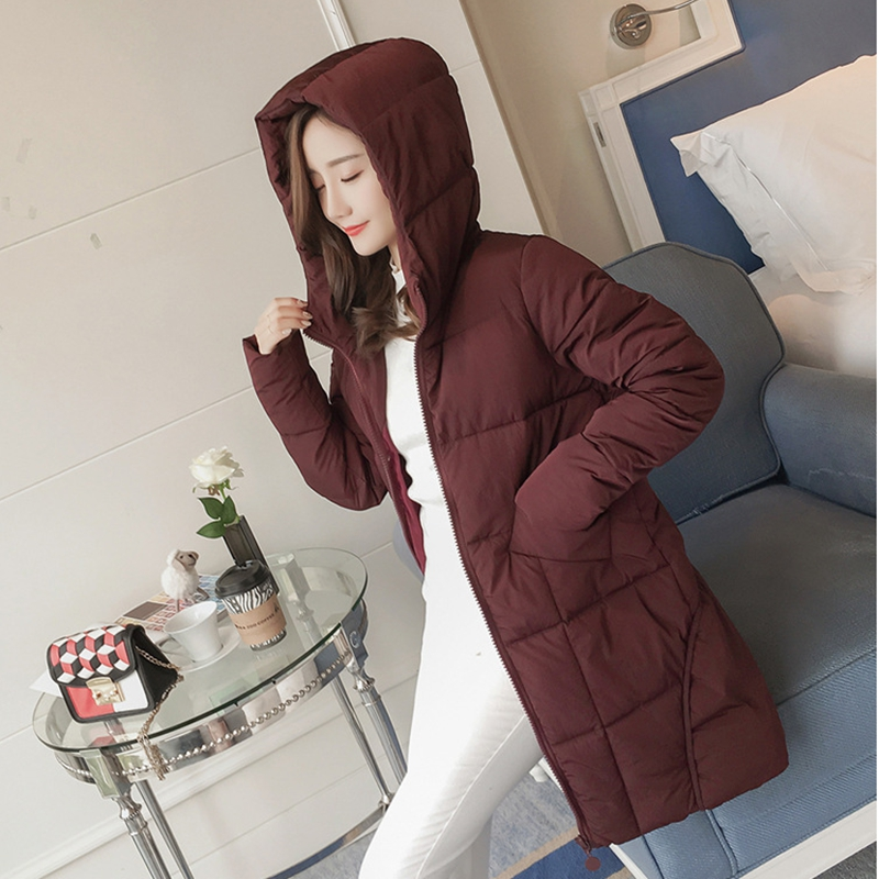 2017 NEW HOT SALE WOMEN WINTER JACKER MEDIUM LENGTH PLUS SIZE HOODED WARM FEMALE PARKAS COTTON WADDED COAT HIGH QUALITY ZL459