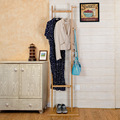 Lanskaya Modern Simple Double Pole Bamboo Landing Coatrack Clothes Hanger Quality Coat Rack Home Furniture