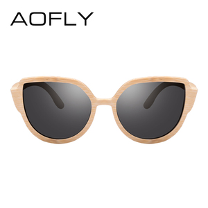 Image 3 - AOFLY BRAND DESIGN Sunglasses Womens Bamboo Polarized Sunglasses HAND MADE Bamboo Frame Classic Gafas de sol Shades UV400 AF608