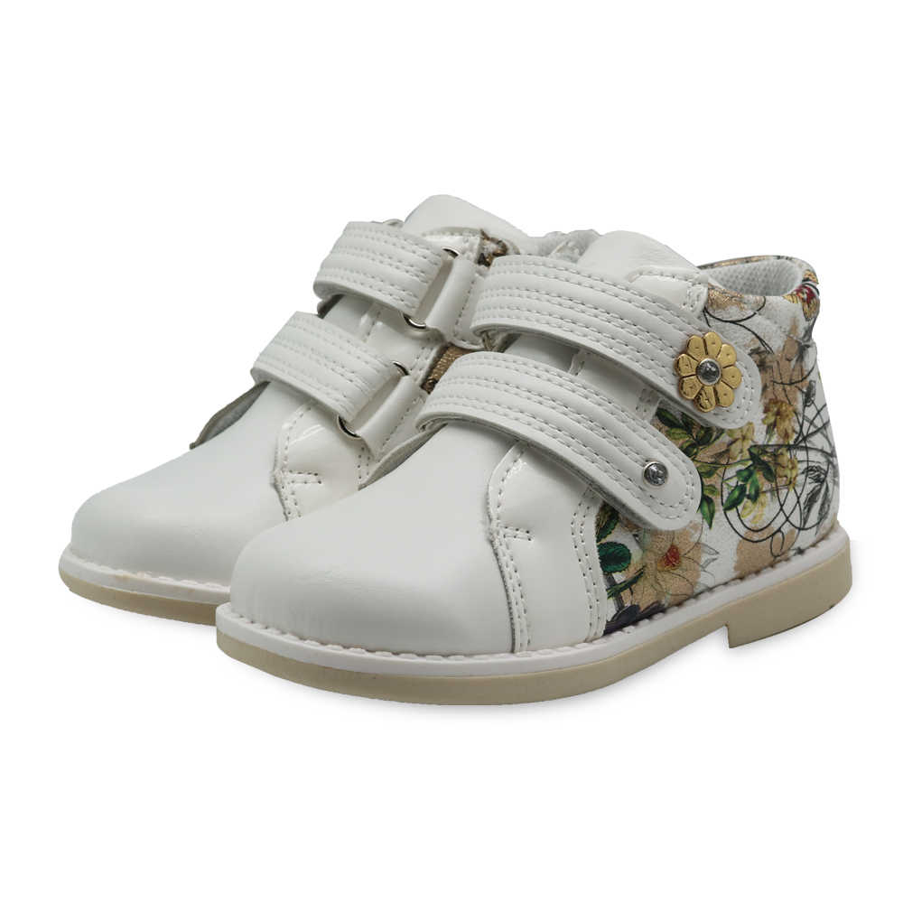 Apakowa Marke Mädchen Pu Leder Frühling Herbst Mode Stiefeletten Mädchen Antislip Schuhe für Schule Party mit Blumen Eur 21-26