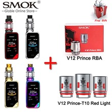 100%Original SMOK X-PRIV Kit with 225W X PRIV Mod 8ml TFV12 Prince Tank Vaporizer Electronic Cigarette VAPE Kit VS SMOK G Priv 2