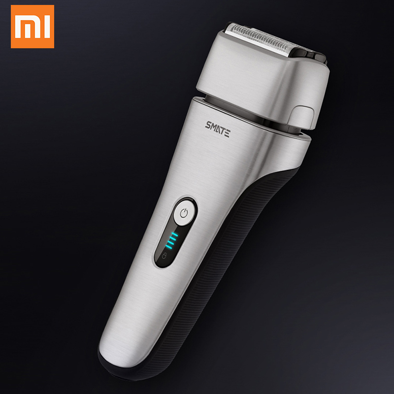 xioami smate Electric shaver xumei skin protection care Dry Wet fast clean 4 Blade shaver gift