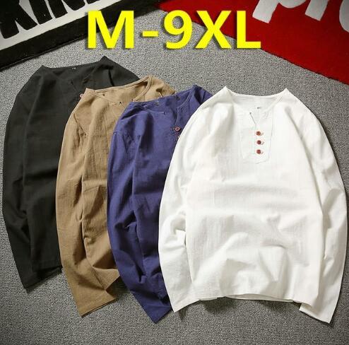 Hommes blanc T-shirt été nouveau japon Style lin à manches courtes T-shirt hommes grande taille mince respirant col décontracté v casual T-Shirts T-shirt haut