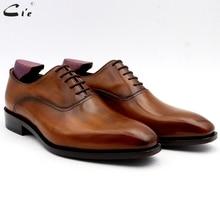 Cie/Мужские модельные туфли; кожа; коричневый с оттенком патины; Мужская офисная обувь; натуральная телячья кожа; подошва; мужские костюмы; официальная кожа; ручная работа; № 5