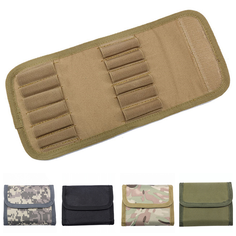 CQC Military Tactical 12 Round 12Gauge 12GA Ammo Shell Cartridge Molle Pouch Rifle Hunting Bullet Bandolier Magazine Bag