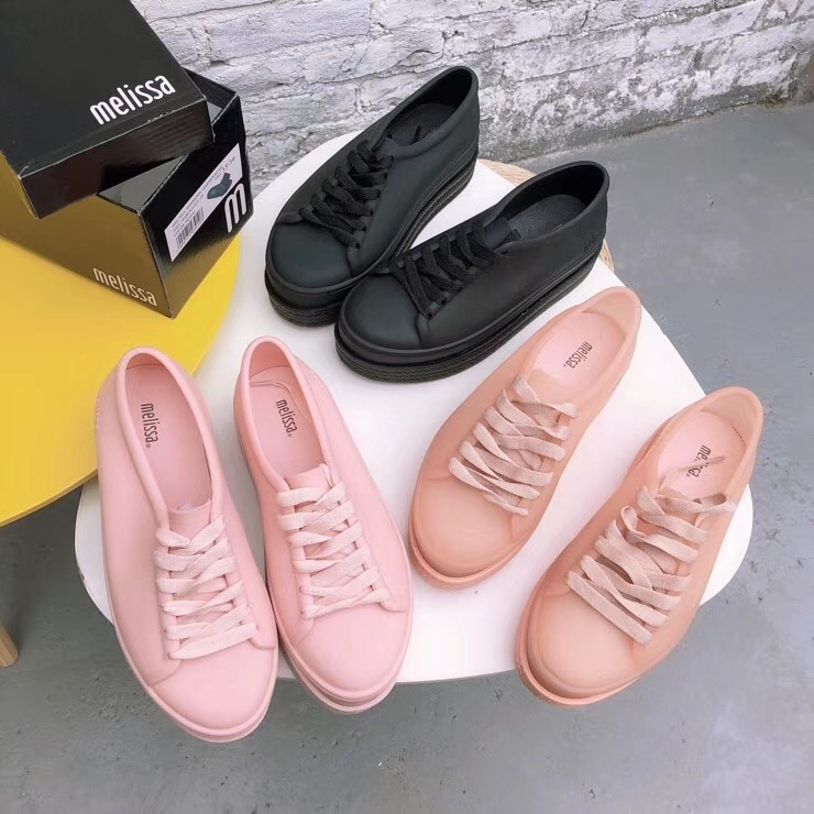 Melissa Shoes With Shoelace 2019 New Women Flat Sandals Brand Jelly Melissa Shoes For Women Solid