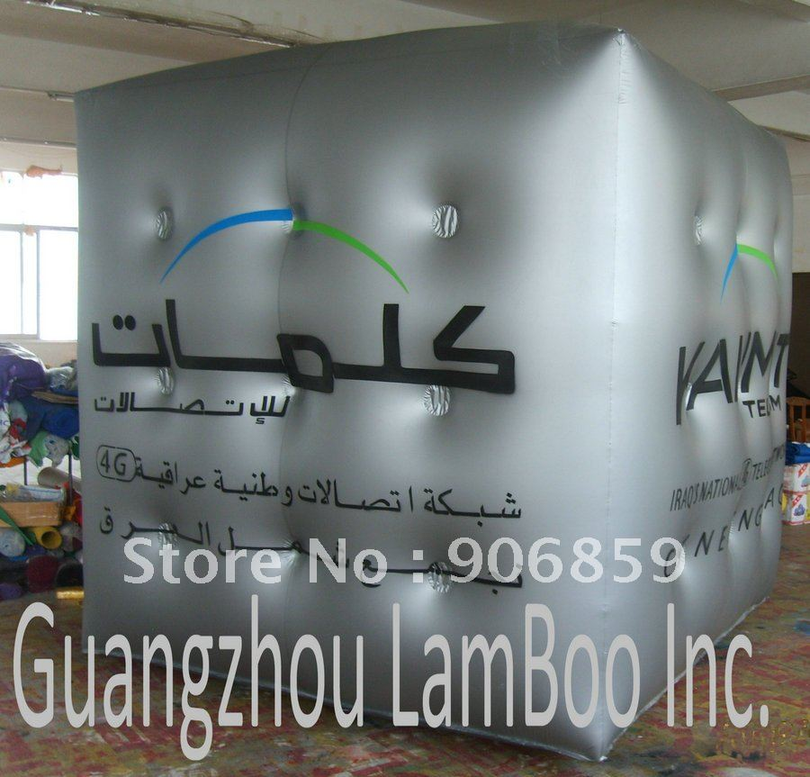 Горячая 2 м на 2 м надувной квадратный рекламные шары с гелием/ /разные цвета