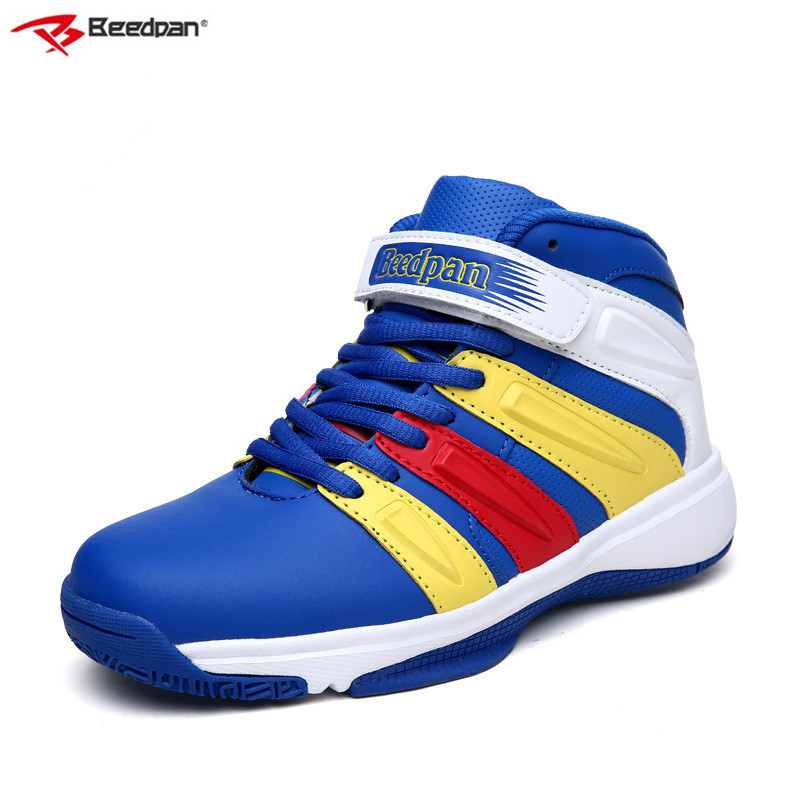 Beedpan Brand 2018 Autumn New kids Shoes Boys High Top Sneakers Boys Basketball Sneakers Children Sport Shoes Kids Running Shoes beedpan children shoes boys sneakers girls sport shoes size 22 30 baby casual breathable mesh kids running shoes autumn winter