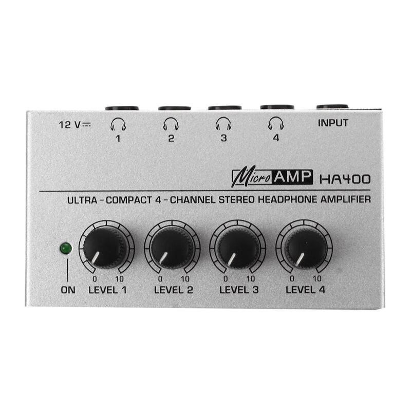 Hot TTKK HA400 4 Channel Ultra-compact Headphone Audio Stereo Amp Microamp Amplifier