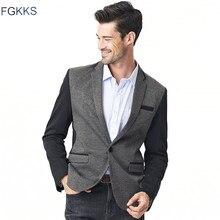FGKKS 2017 Neue Ankunft Kleidung Männliche Blazer Männer Mode Einfarbig Männlichen Anzüge Beiläufigen Klage-blazer Männlichen Plus größe