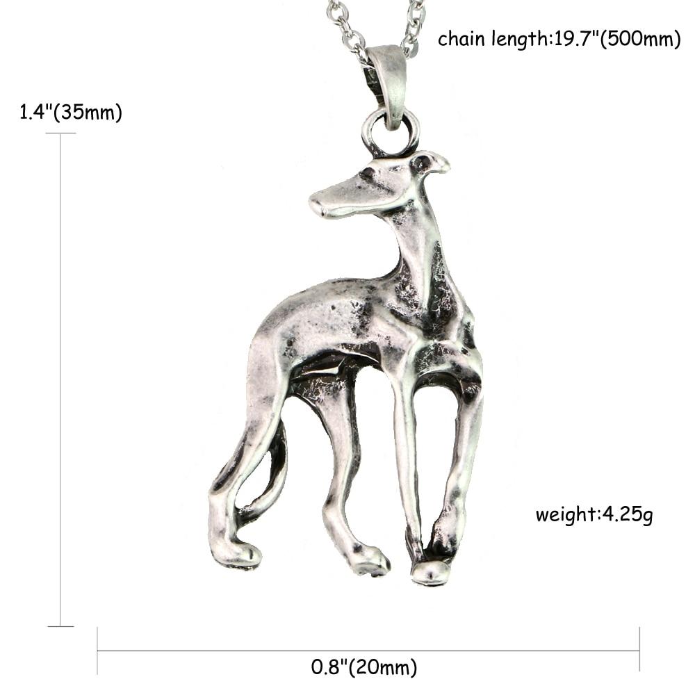 Greyhound ogrlica Galgo sprejeti reševalni whippet pes oblika zlato - Modni nakit - Fotografija 5