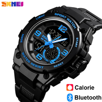 Skmei luxo bluetooth digital relógios de pulso moda esporte relógio inteligente masculino à prova dwaterproof água calorias pedômetro relógio relogio inteligente Relógios digitais     -