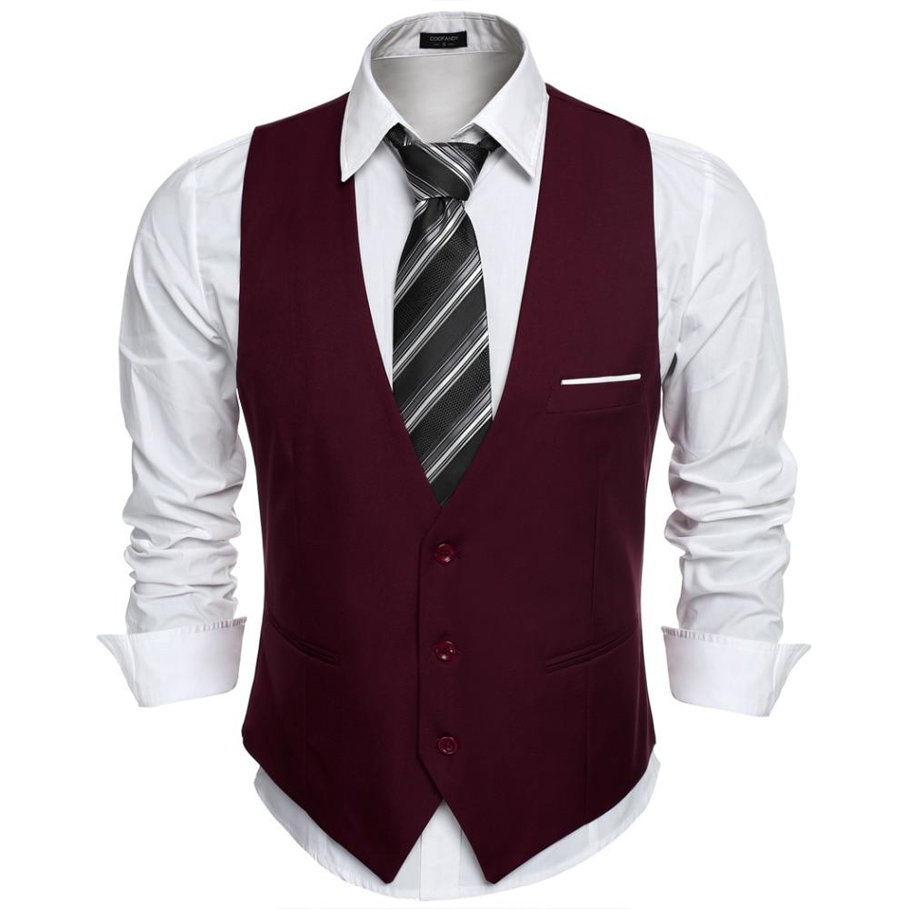 COOFANDY US size Dress Vests For Men Suit Vest Male Waistcoat ...