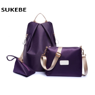 2017 Women fashion Handbag Oxford Cloth Messenger Bags Ladies Brand Design Bags Handbag+Messenger Bag+Purse 3 Sets