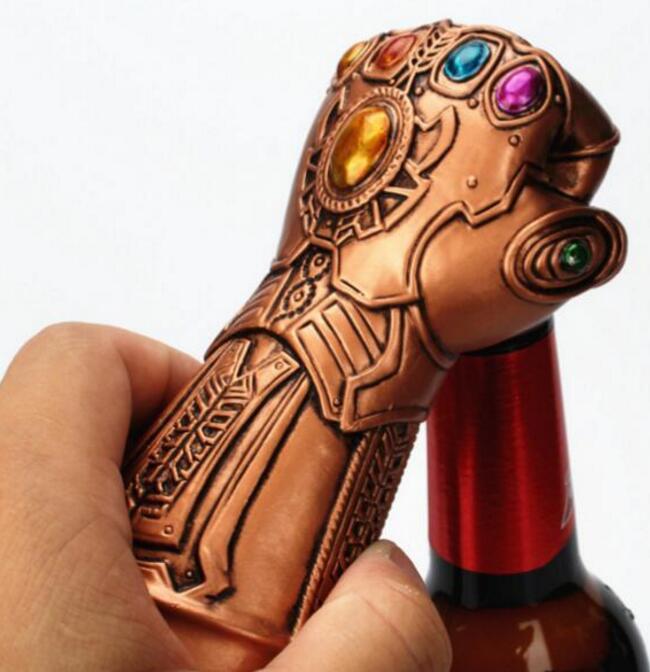 Thanos Infinity Gauntlet Avengers Infinity War 15pcs Gloves 15pcs Thor s Hammer Superhero Avengers Beer Bottle