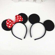 Children Kids Mickey Minnie Ear Headband Adults Headwear Halloween Carnival Party Fancy Dress Decor