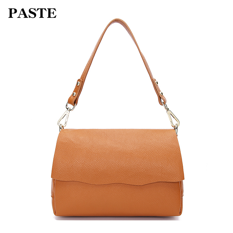 2018 New Women Genuine leather Shoulder Bags Cow Leather Handbags Crossbody Classic Simple Style 8P2005 247 classic leather