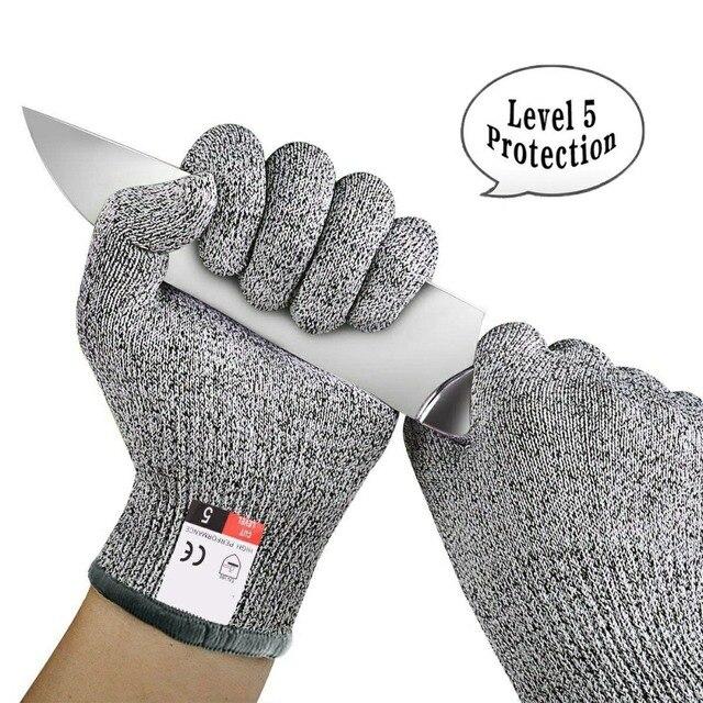 אנטי לחתוך כפפות עבודה בטיחות כפפת מטבח הקצב חום חתך דקירה עמיד אש יד כפפות איש לחתוך הוכחה הגנה עצמית כלים