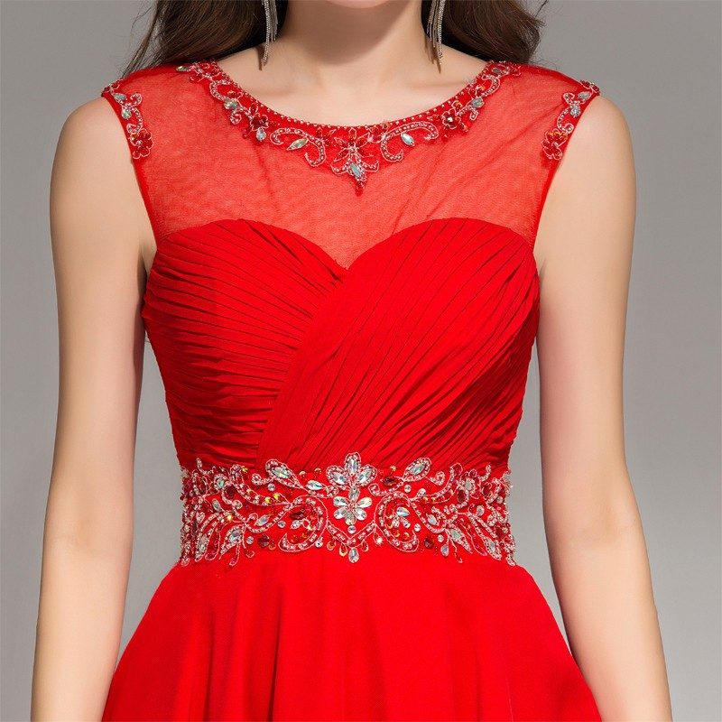 d029379301 Summer 2016 Short Red Homecoming Dress Keyhole Back Beaded Chiffon Tulle  Teens Semi Formal Dress Custom Made-in Homecoming Dresses from Weddings    Events on ...