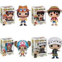 Funko POP One Piece Мини Аниме Луффи Чоппер Ace Закон Винил ПВХ Коллекция Фигурку ПВХ Модель Игрушки Для Детей