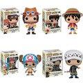 Funko POP de One Piece Mini Anime Luffy Ley Ace Chopper de Vinilo PVC Colección Figura de Acción DEL PVC Modelo Juguetes Para Niños