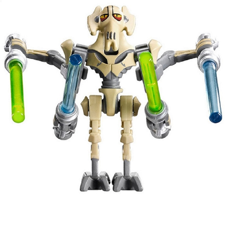 50Pcs Super Heroes Assemble General Grievous With Lightsaber W/Gun Star Wars Building Blocks Children Collection Gift Toys PG631