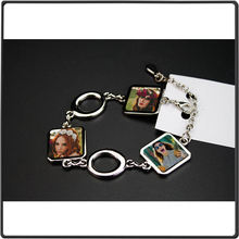 Bracelets Jewelry Sublimation Personality Gifts Fashion for Square Thermal-Transfer-Printing