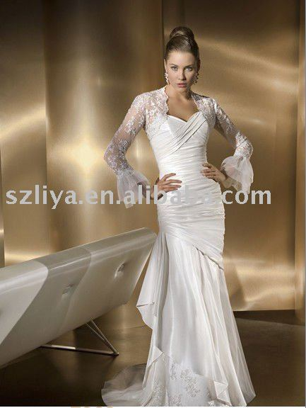 new fashion lace white indian wedding dresses-in Wedding Dresses ...