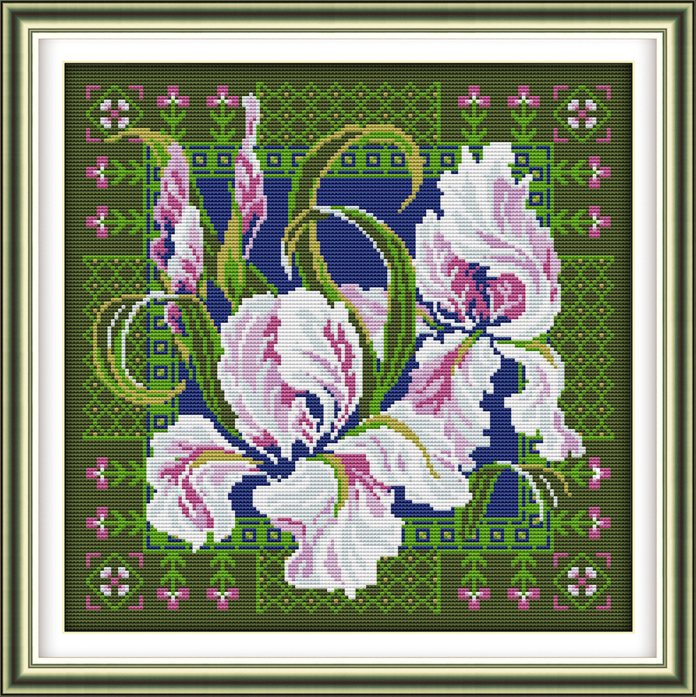 DIY Lavender Vase Stamped Cross Stitch Kits Advanced Patterns for Beginner Kids