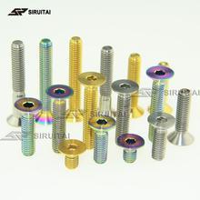 Titanium болт M6X10/15/20/25/30/35/40mm потайной titanium болт шестиугольный рукав titanium винт GR5